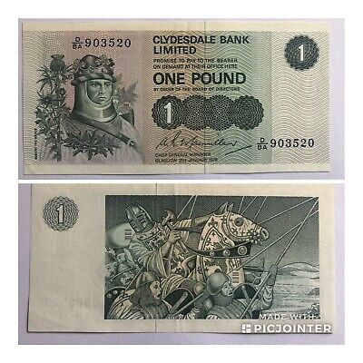 Robert Bruce Clydesdale Bank £1 Note