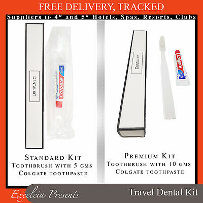 Travel Toothbrush & Toothpaste - Dental Kit Overnight Holiday airline holiday