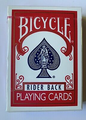 Bicycle Playing Cards Rider Back Blue Seal Poker 808 Cincinnati Ohio Red Deck