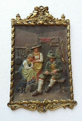 Antique Cast BRADLEY & HUBBARD Easel Back Ornate Victorian Wall Plaque #1812