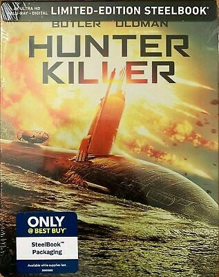 Hunter Killer - Limited Edition Steelbook [4K+ Blu-ray] NEW And Sealed!!