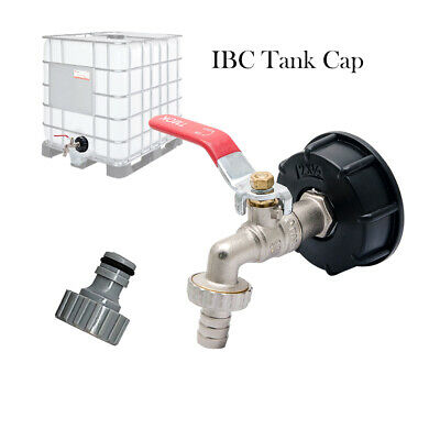 """IBC TOTE TANK ADAPTER  1/2"""" Garden Hose FAUCET VALVE with Coarse Thread S60X6"""