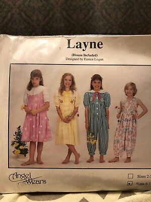 Angel Wears LAYNE pattern for smocked jumpsuit, dress, blouse & jumper size 6-10