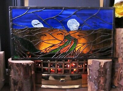 Van Gogh Wheatfield With Crows Stained Glass Tiffany Handmade Panel
