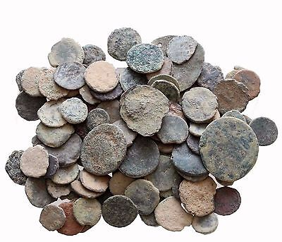 -- Mix Lot Of 10 Ae Ancient & Roman Coins And Always Bonus Coins Added