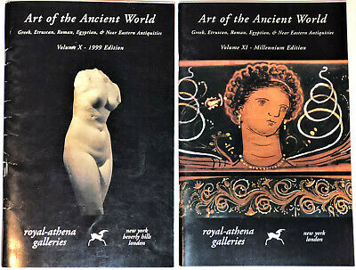 Set of 2 - Royal Athena Art Ancient World Antiques Greek Egypt Reference Catalog