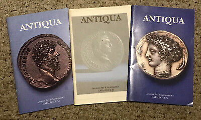 ANTIQUA Ancient World Antiques Greek Egypt Judea Coin Art Reference Catalog Book