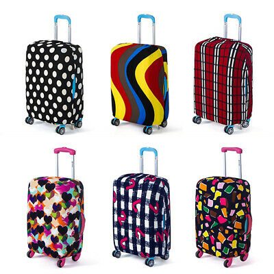 Multicolor Geometric Travel Luggage Cover Protector Trolley Case Trunk Case Hot