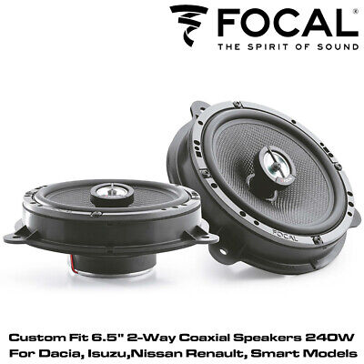 "Focal IC RNS165 - Custom Fit 6.5"" 2-Way Coaxial Speakers 240W For Smart Car"