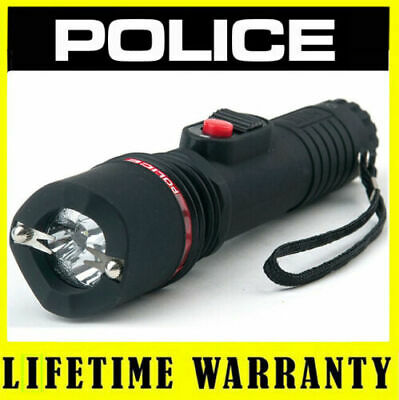 POLICE METAL Stun Gun 1188 180 BV Heavy Duty Rechargeable With LED Flashlight