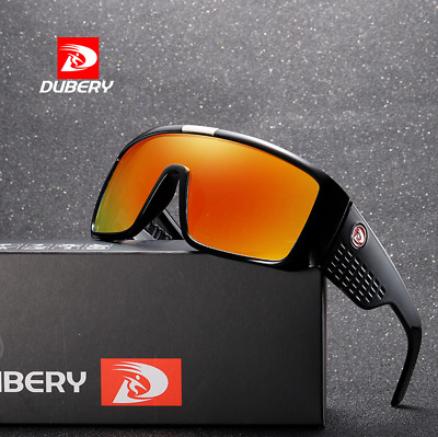 DUBERY Men Large Frame Sport Sunglasses Outdoor Riding Fishing Windproof Goggles
