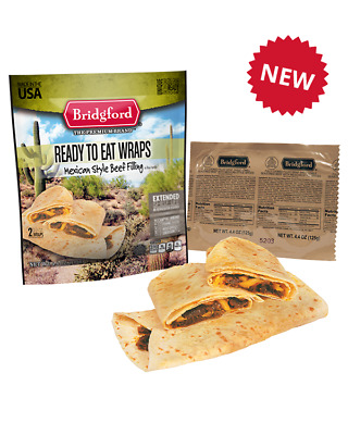 Mexican Beef Taco MRE Survival Desert Bridgford Ready to Eat meals - 3 pack TACO