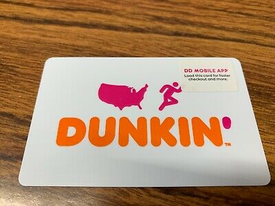 DUNKIN DONUTS GIFT CARD (no value), swiped once, unscratched