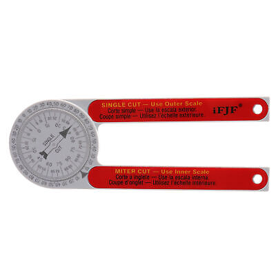 iFJF 505P-7 Miter Saw Protractor Laser Engraved Dial Accurate Angle Finder new