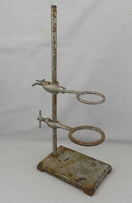 Vintage Laboratory Retort Stand With Two Different Support Rings