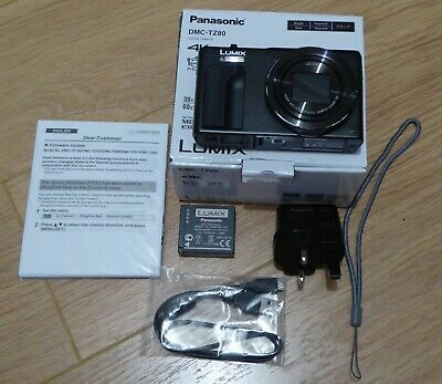 PANASONIC Lumix DMC-TZ80EB-K Superzoom Compact Camera
