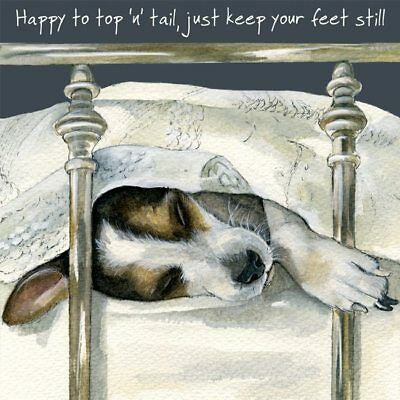 The Little Dog Laughed  Greeting Card – Top And Tail