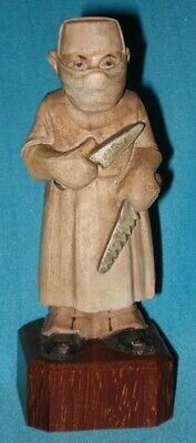 Circa 1958! Vintage Wood SURGEON Hand Carved by Anri Italy