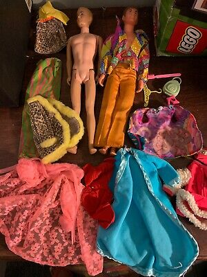 Vintage Barbie Francie Ken Clothes And 2 Ken Dolls