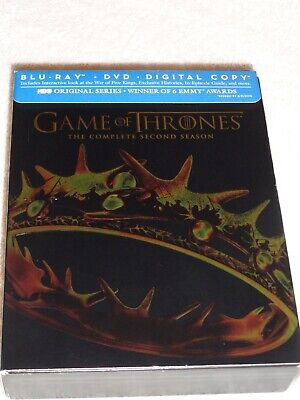 Games Of Thrones The Complete Second Season Blue Ray (Like New) No Digital  Code