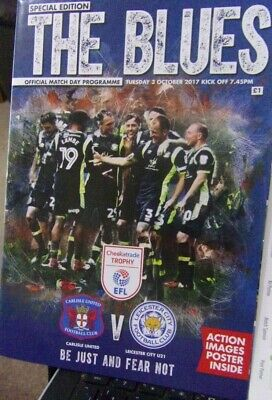Carlisle United Leicester City  Official 2017 Checkatrade Trophy Programme