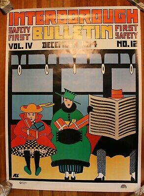 Interborough Poster MTA Transportation Authority NYC New York Subway Art Deco