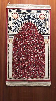 Carpet of the Prophet's Mosque. Wool Prayer Rug Tapestry ORIENTAL ANTIQUE. Nu4