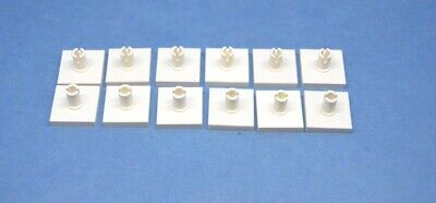 LEGO 12 x Platte mit Pin oben 2x2 gelbyellow plate with pin 2460 246024