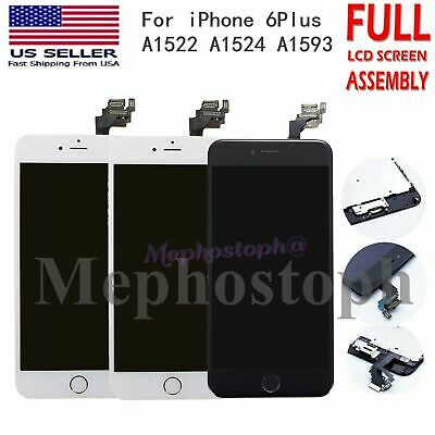 For iPhone 6 Plus LCD Screen Digitizer Replacement lcd Touch+Home Button Camera