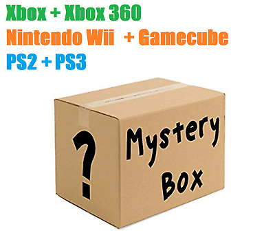 10 Random Mystery PS2, PS3, Xbox + X Box 360, Wii + Gamecube Game Bundle!