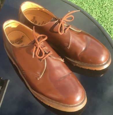 Vintage Dr Martens 1461 brown leather shoes UK 9 EU 43 Made in England.