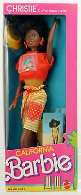 California Barbie Christie Doll #4443 New Never Removed from Box 1987 Mattel