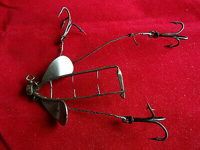 A Large Early Vintage Hardy Crocodile Bait Mount Lure