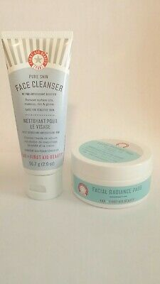 First Aid Beauty Facial Radiance Pads(28)& Pure Skin Face Cleanser 2oz