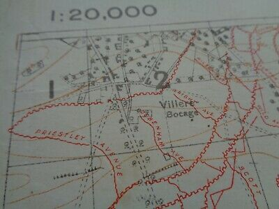 WW1 (1918) SOMME Trench Map Showing ALL Trenches in RED + Co ...
