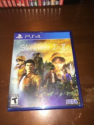 Shenmue I & II - PS4 PlayStation 4 Includes Poster - used but Mint