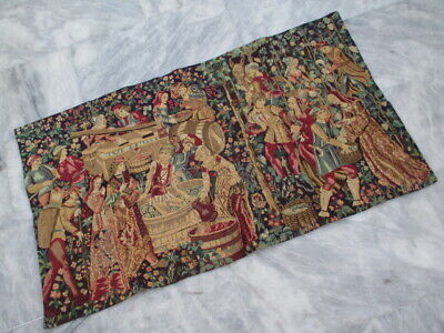 5033 - Old French / Belgium Tapestry Wall Hanging - 114 x 65 cm