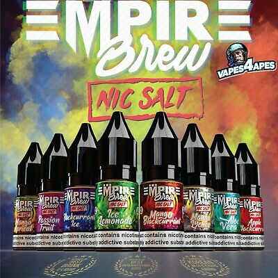 Empire Brew NEW Nic Salts 20MG Nicotine TPD 10ml Bottles Malaysian Made