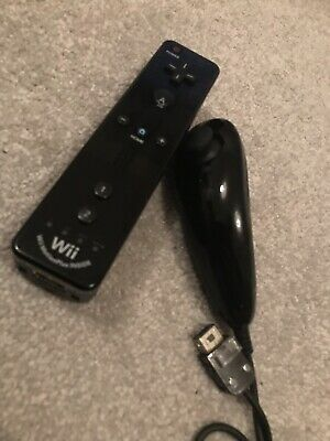 Nintendo Wii Motion Plus Inside Official Black remote controller Wii u & nunchuk