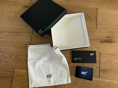 Empty Black Mont Blanc Belt Presentation Box With Dust Bag And Outer Box