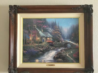 Enjoyable Thomas Kinkade Twilight Cottage 16X20 Canvas Sn Home Interior And Landscaping Ologienasavecom