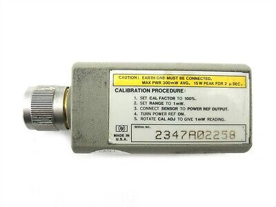 Hewlett Packard HP 8485A Calibrate RF Power Sensor 50MHz-26.5GHz, -30 to +20dbm