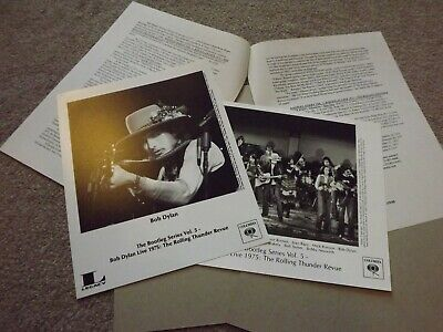Bob Dylan BS Vol 5 Live Rolling Thunder Revue Full Promotional Kit Columbia