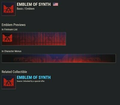 Destiny 2 Emblem of Synth Emblem!!!!!CODE IS IN HAND!!!!! INSTANT DELIVERY!!!!!!