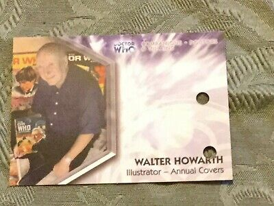 Dr Doctor Who Trilogy Unsigned Auto Card DWT-A15 Walter Howarth - Illustrator