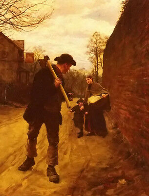 Dream-art oil painting henry herbert la thangue - off to work happy family art