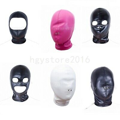 Faux Leather Head harness Hood Mask Bondage Roleplay Slave Headgear Fantasy Game