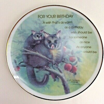 Porcelain Plate Brush Tailed Possum Lasting Treasures Birthday John Sands 1988