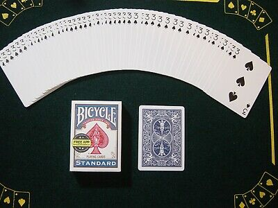 One Way Force Deck - Blue Bicycle - 3 Of Spades - 52 Cards All The Same - New