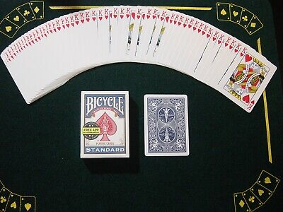 One Way Force Deck - Blue Bicycle - King Of Hearts - 52 Cards All The Same New